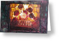Stove Greeting Card