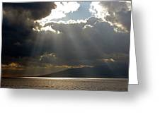 Strait Of Messina II Greeting Card
