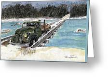 Stranded On Rockford Bridge Greeting Card