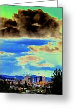 Strange Spokane Storm Greeting Card
