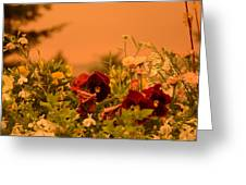 Strange Weather/flourished Flower Greeting Card
