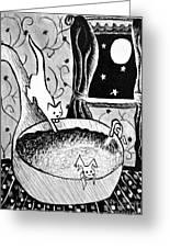 Strangers In Bathtubs Greeting Card