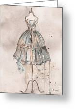 Strapless Champagne Dress Greeting Card by Lauren Maurer