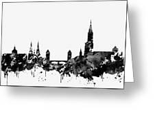 Strasbourg Skyline-black Greeting Card