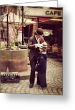 Strasbourg Street Performer Greeting Card