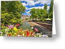 Strasbourg, Half-tmbered Houses, Petite France, Alsace, France Greeting Card