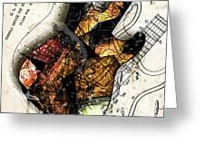 Strat Abstracta No. 4 Sunrise Greeting Card