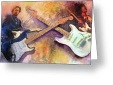 Strat Brothers Greeting Card