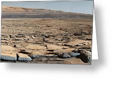 Stratified Rock On Mars Greeting Card