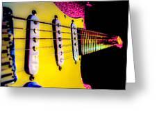 Stratocaster Pop Art Pink Fire Neck Series Greeting Card