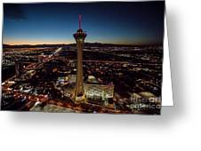 Stratosphere Casino Hotel  Greeting Card