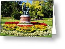 Strauss In Flowers Greeting Card