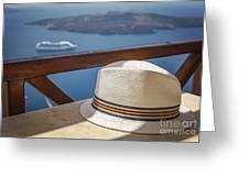 Straw Hat  Greeting Card