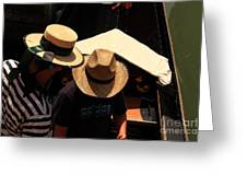 Straw Hats In Venice Greeting Card