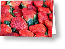 Strawberries 8 X 10 Greeting Card