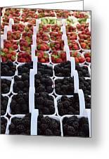 Strawberries And Blackberries Greeting Card