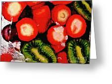 Strawberries And Kiwi Greeting Card