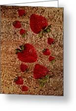 Strawberries And Stone Slab  Greeting Card