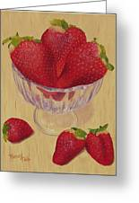 Strawberries In Crystal Dish Greeting Card