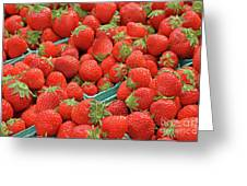 Strawberries Jersey Fresh Greeting Card