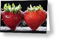 Strawberries Panorama Greeting Card