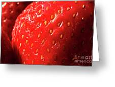 Strawberry Abstract Greeting Card