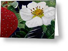 Strawberry And Blossom Greeting Card
