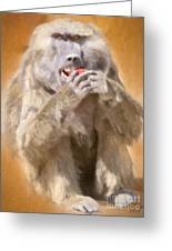 Strawberry Baboon Greeting Card