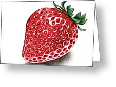 Strawberry Bite Greeting Card by Janet Moss