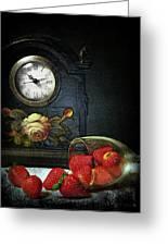 Strawberry Clock Greeting Card