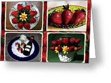 Strawberry Collage Greeting Card