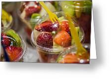 Strawberry Desert - La Bouqueria - Barcelona Spain  Greeting Card