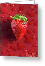Strawberry Fresh One Greeting Card