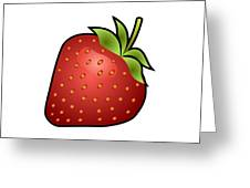 Strawberry Fruit Outlined Greeting Card