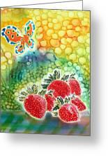 Strawberry Garden Greeting Card