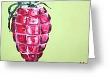 Strawberry Grenade Greeting Card
