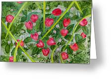 Strawberry Love Patch Greeting Card