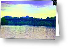 Strawberry Mansion Bridge Across The Schuylkill River Greeting Card