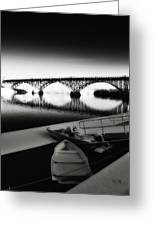 Strawberry Mansion Bridge In Winter Greeting Card