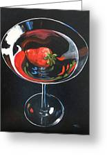 Strawberry Martini Greeting Card