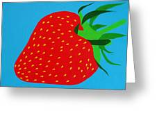 Strawberry Pop Greeting Card by Oliver Johnston