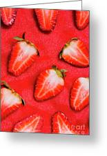 Strawberry Slice Food Still Life Greeting Card