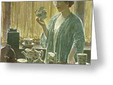 Strawberry Tea Set, 1912 Greeting Card