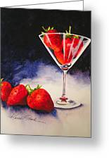 Strawberrytini Greeting Card