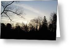 Streaks Of Clouds In The Dawn Sky Greeting Card