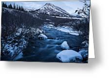 Mountain Stream In Twilight Greeting Card