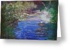 Stream At Yosemite Greeting Card