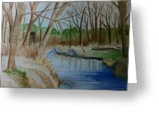 Stream For Chandler Greeting Card