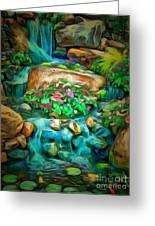 Stream In Ambiance Greeting Card