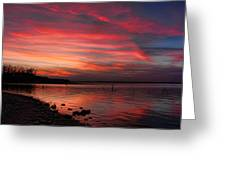Streaming Sunset Greeting Card
